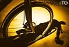 BIKE (Stromboly) Tags: camera shadow selfportrait bike bicycle wheel yellow mexico disco discbrake autoretrato fast sombra amarillo bici deporte spicy velocity ruedas pasion chapultepec pavimento rápido llanta rodar alubike hule conmuting