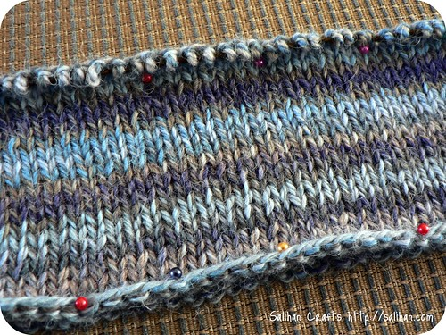 Swatching for Seamless Hybrid jumper