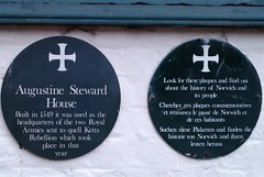 Photo of Augustine Steward black plaque
