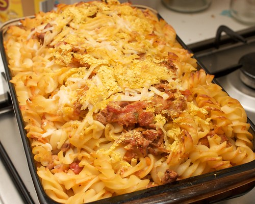 tempeh bolognaise pasta bake