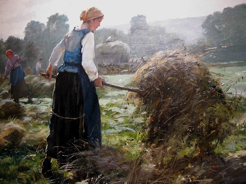 Woman and Hay