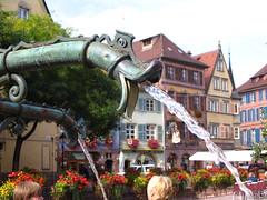 Jets de la fontaine  Colmar (auandre) Tags: france colmar alsace fontaine