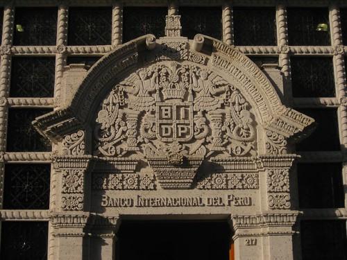 carved sillar facade