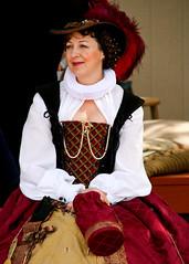 Renaisance (simone.ellsworth) Tags: red festival lady gold dress velvet renaisance medeivel