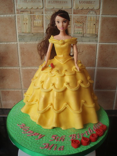 Disney Princess Belle Cake by Murfie68
