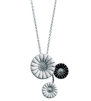 Georg Jensen Daisy pendant necklace