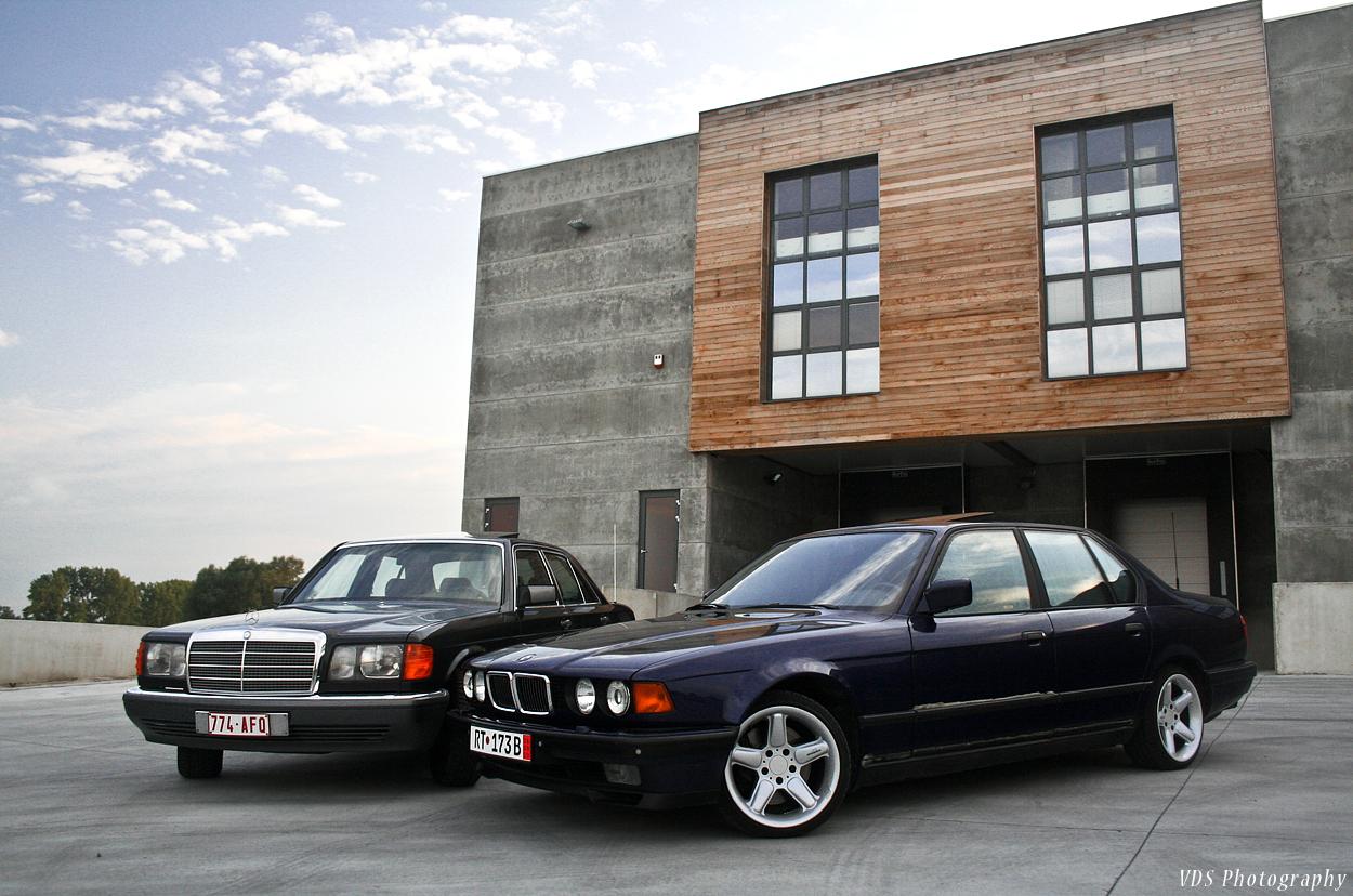 Mercedes W126 300SE + BMW E32