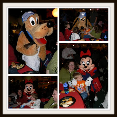 Meeting up with Pluto and Minnie