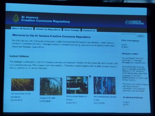 Al Jazeera creative commons repository