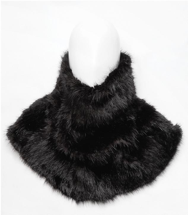 Harricana recycled fur tube scarf