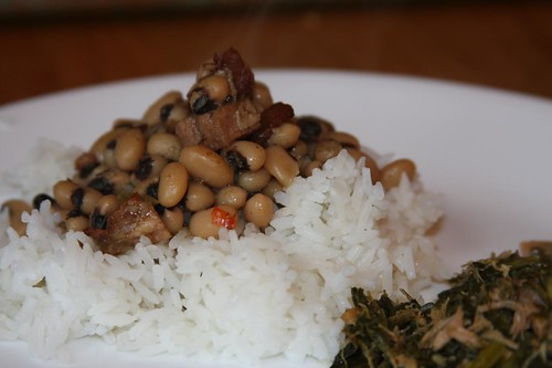 Hoppin' John and Collard Greens