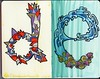Moleskine Alphabet ~D ~E (Lauren Goode) Tags: moleskine letters font type alphabet lettering psychedelic mole markers handdrawntype skine zigmarker