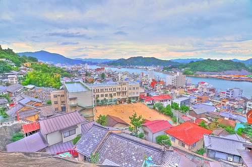 Onomichi City/HDR like illustration