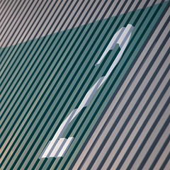 Diagonalzwei (Postsumptio) Tags: door house building germany square europe geometry frankfurt line diagonal greengrey two2 alterflughafen