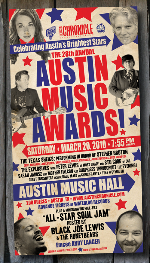 The 28th Annual AUSTIN MUSIC AWARDS Poster 3.20.2010