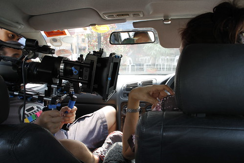 Shooting a car scene