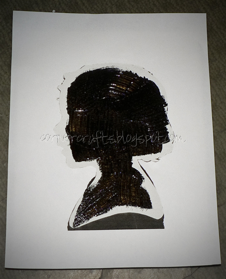 silhouette canvas painting stencil