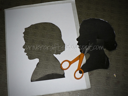 silhouette canvas cutting stencil