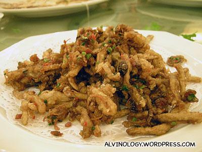 Salted fried mushroom