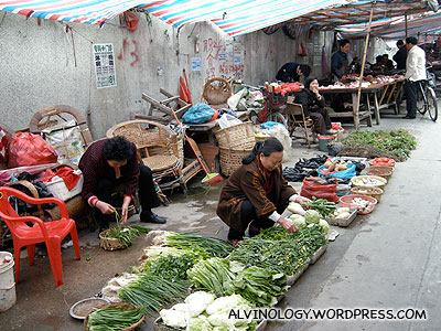 More vegetable vendors