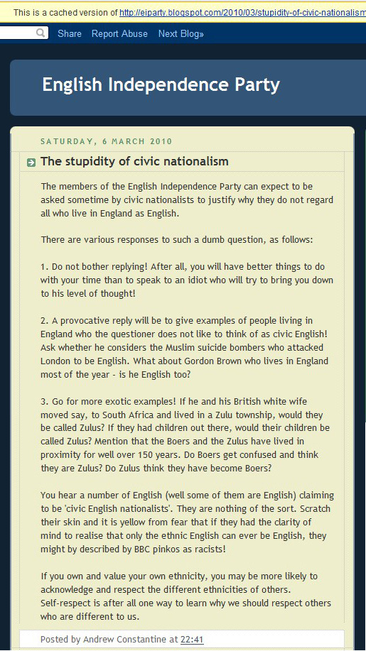Civic English Nationalism