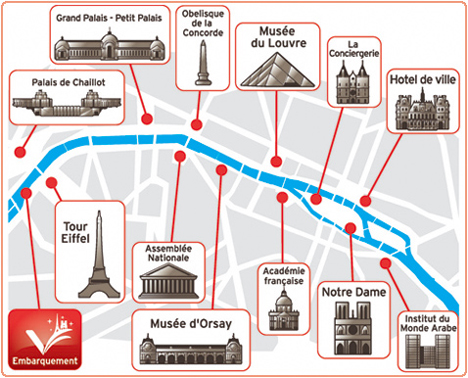 Mapa cruzeiro no Sena