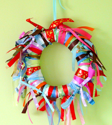 ribbons spring wreath