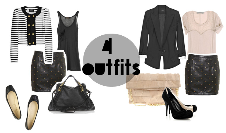 4 outfits
