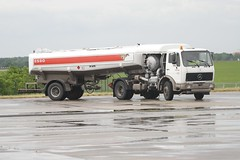 Mercedes artic and Esso Jet A-1 fuel tanker at the helipad at ILA 2006, Schoenefeld (Ian Press Photography) Tags: berlin truck plane germany mercedes airport aircraft air transport jet east lorry german planes trucks a1 ila esso artic tanker fuel lorries schoenefeld ila2006 jeta1