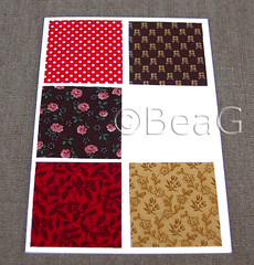 Fabric Card (Kaart met Lapjes Stof) (Made by BeaG) Tags: red brown paper design squares handmade unique postcard belgi fabric cotton card scraps greetingcard papier rood kaart handmadecard kaartje cardmaking homemadecard vierkantjes beag stof postkaart katoen fabricscraps fabriccard designedandmadebybeag ontworpenengemaaktdoorbeag kaartjesmaken handgemaaktekaart kaartenmaken zelfgemaaktekaart lapjesstof restjesstof kaartmetlapjesstof bruiin