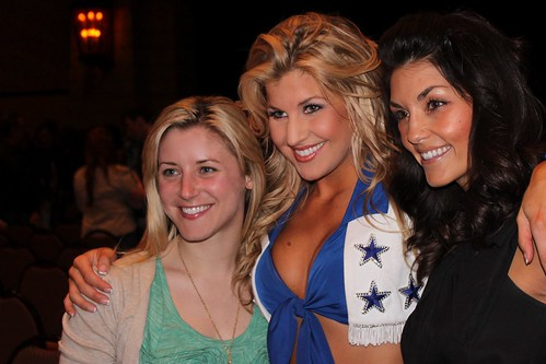 Dallas Cowboy Cheerleaders Family/Friends Show. Two talented and beautiful friends of mine, Malia and Crystal.