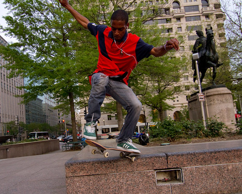 Freedom Plaza Skateboarder