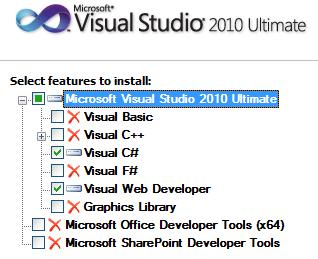 VS2010 - Small Install