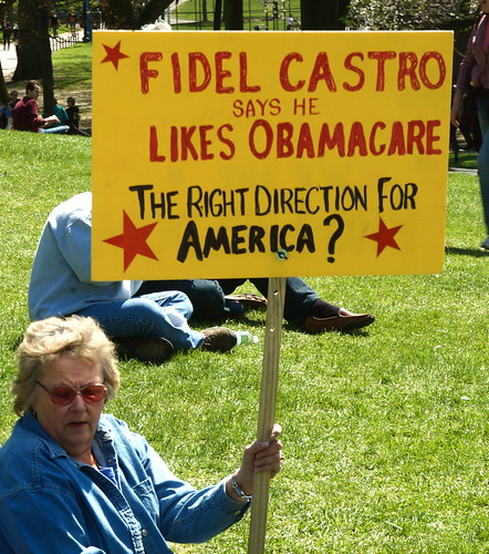 Does this Tea Party Republican know that infant mortality is lower in Cuba than it is in the US?