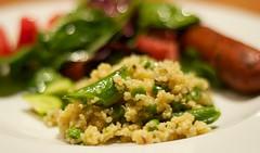 quinoa w/herbs & peas