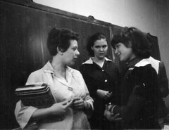 1966. High school life (elinor04 thanks for 28,000,000+ views!) Tags: family girls people fashion youth vintage photo education hungary classroom budapest young teens wear highschool teacher 1960s hairstyle vintagefamilyphotocollection elinorsvintagefamilyphotocollection hungariancollection