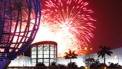 pyro musical olympics (explore) (DOLCEVITALUX) Tags: fireworks philippines firework manila moa pyro pasay mallofasia pyroolympics canonpowershotsx50hs