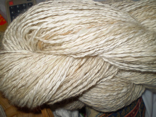 Handspun dog hair yarn