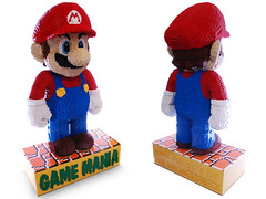 LEGO Mario (1m80) : isometric views (dm_meister) Tags: blue red sculpture orange brick ebay lego nintendo large super mario structure tiles walkway strong projects plumber van bros lifesize luigi dirk n64 pedestal legoworld wii gamemania brickprojects haesbroeck