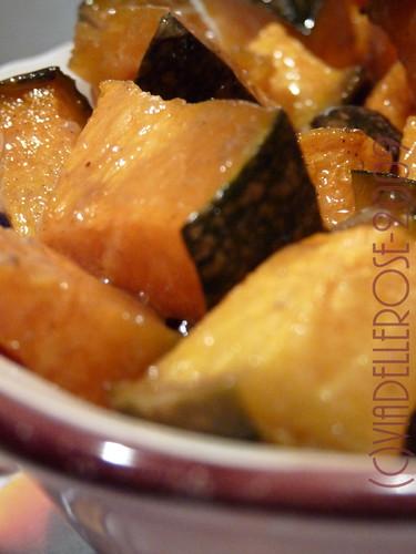 Zucca al forno miele e spezie