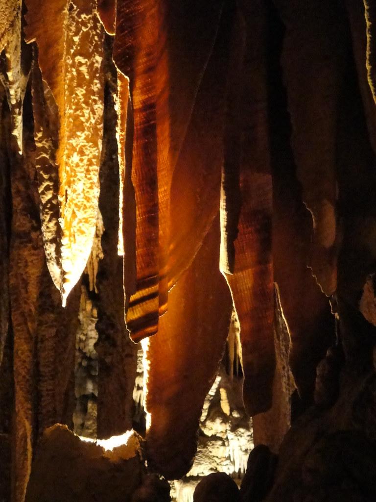 Draperies at Luray Caverns