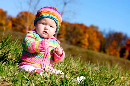 Carla in the grass