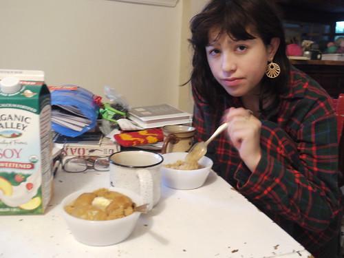 rachael breakfasting