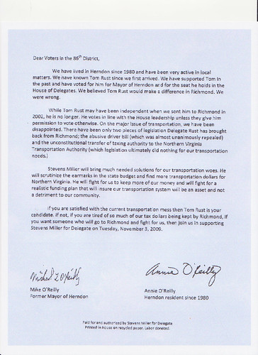 Reilly Letter