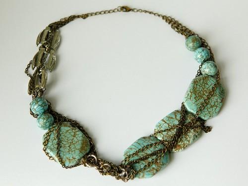magnesite multi-chain necklace