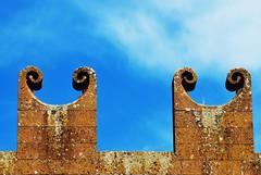 Merli (LukeMalone) Tags: sky wall ancient nikon cielo mura azzurro antico architettura merli orvieto d80