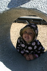 Anna at the playground in Blowing Rock
