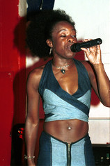 Singers The Spot Covent Gardens Sep 2001 008 Hostess (photographer695) Tags: 2001 gardens spot covent singers sep openmic the