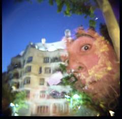 DWT - Pedrera (dani_pe) Tags: world barcelona familia lomo lomography tour diana f barceloneta sagrada 2009 borne gotico
