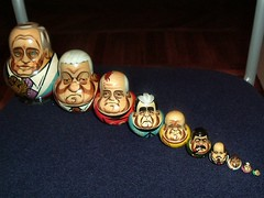 4892 - The Matryoshka of Power (mister-tim) Tags: lenin europe doll russia moscow capital easterneurope putin stalin matryoshka gorbachev yeltsin  peterthegreat catherinethegreat khrushchev  russianfederation  brezhnev   matryoshkadoll nicholasii babushkadoll    russiannesteddoll     ii    ii